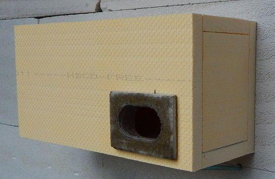 Budka do zateplení pro rorýse jednokomorová 1R 380 x 190 x 150mm